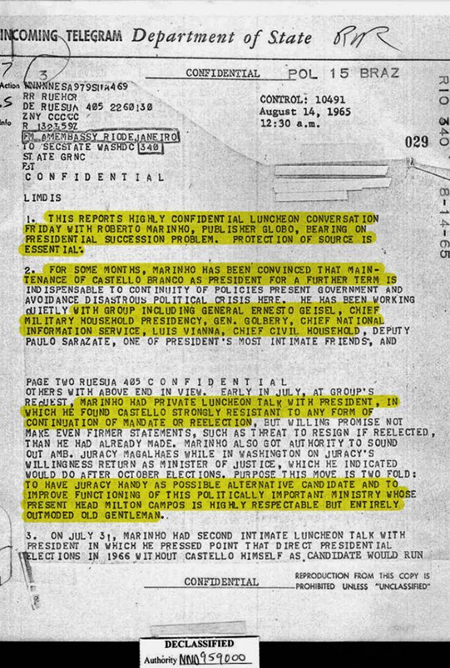 Morte e tortura no Brasil com base em documentosoficiais